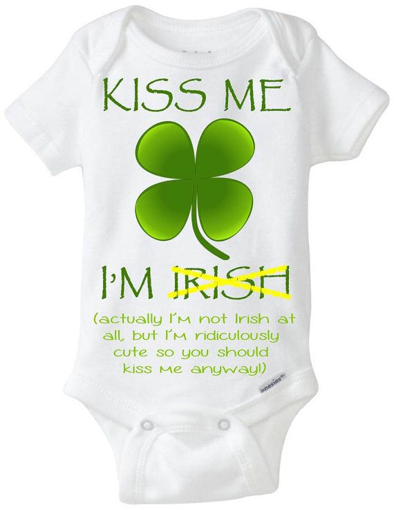 ST Patricks Day Kiss Me Im Irish Onesies Jumpsuit as picture6 Months
