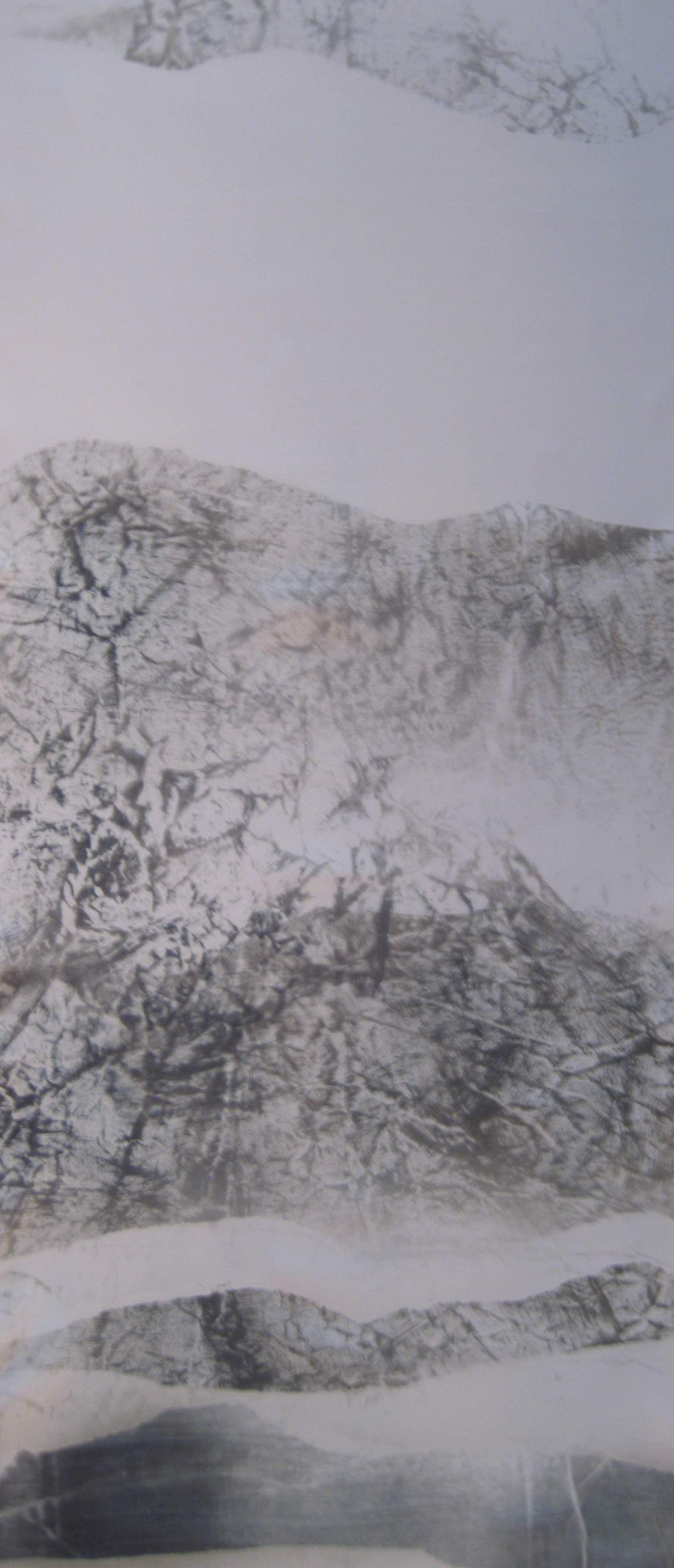 Pintura sobre raso.145 x 50 cm. Tucha 2014