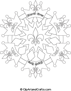 fabulous printable design mardi gras mandala coloring sheet for teens or adults