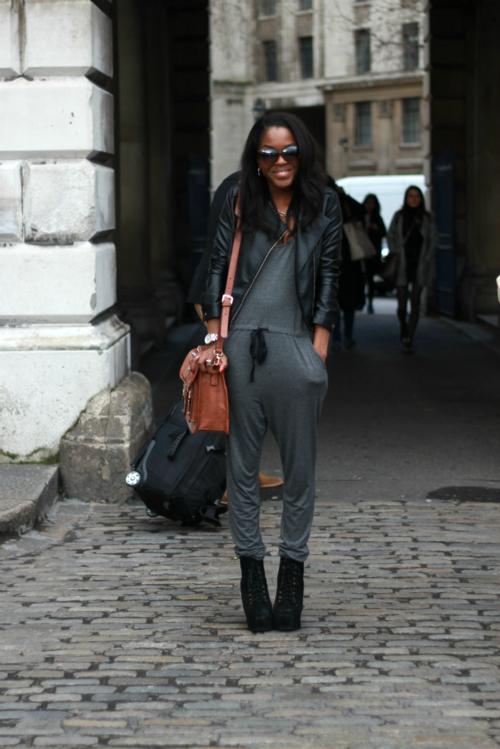 Jumpsuit: Urban Outfitters, Sunglasses: River Island, Bag: DSUK*, Jacket: Miss Selfridge, Boots: Jeffrey Campbell Lita, Watch: Michael Kors,    blog: http://www.londons-closet.com