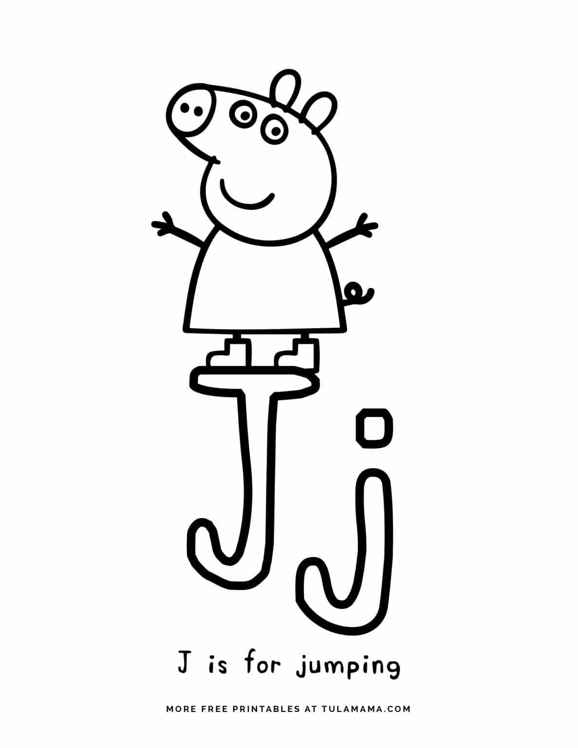 Free Printable Peppa Pig Abc Coloring Pages For Preschoolers Abc Coloring Abc Coloring Pages Free Alphabet Printables [ 1536 x 1187 Pixel ]