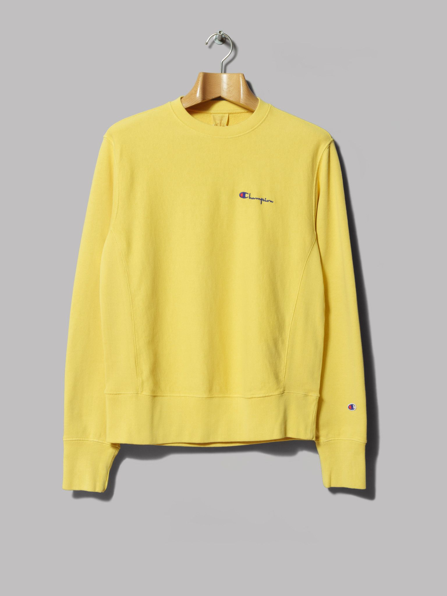 Champion Reverse Weave Crewneck Sweatshirt (Yellow)