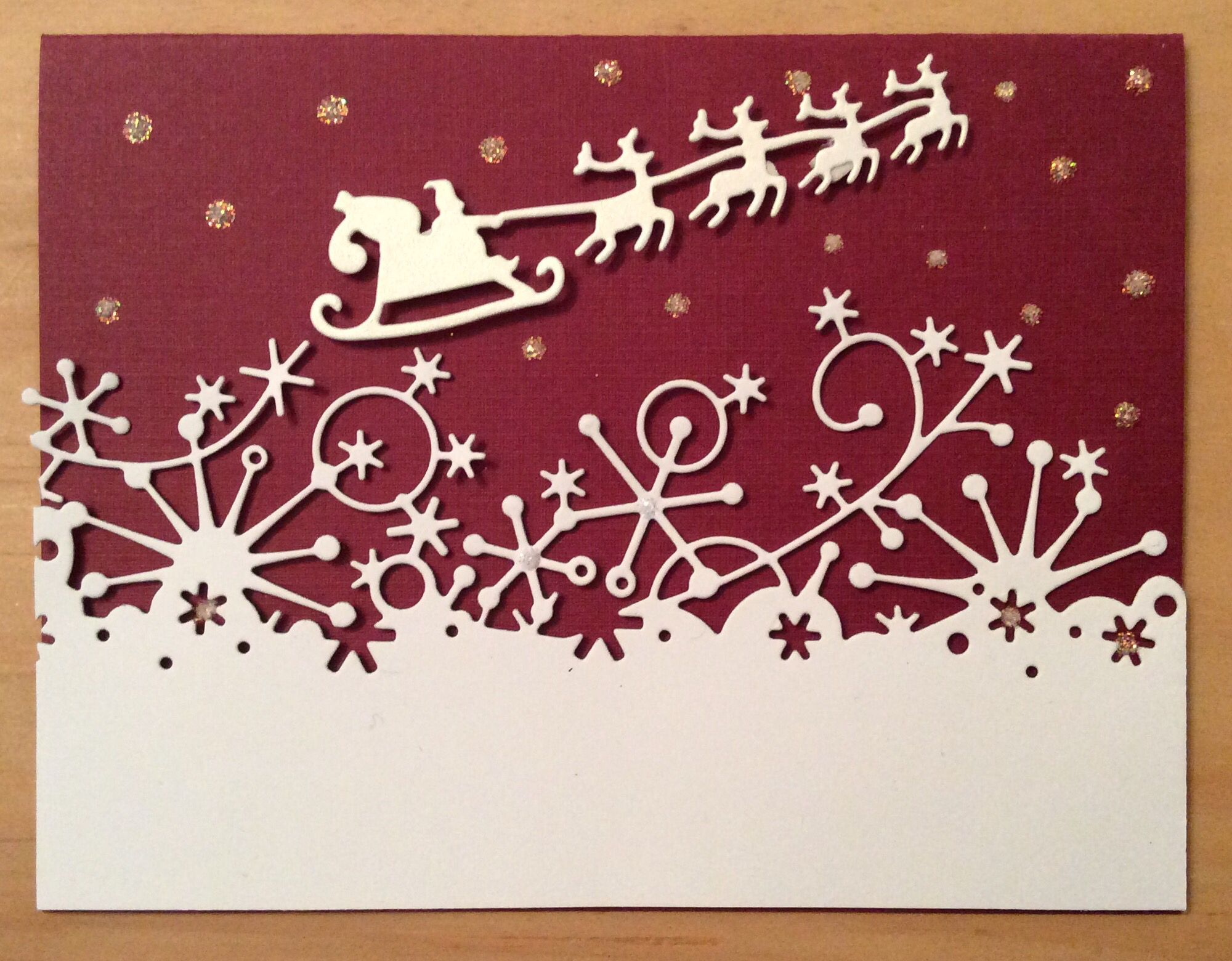 Frostyville border by Memory Box | Homemade christmas ...