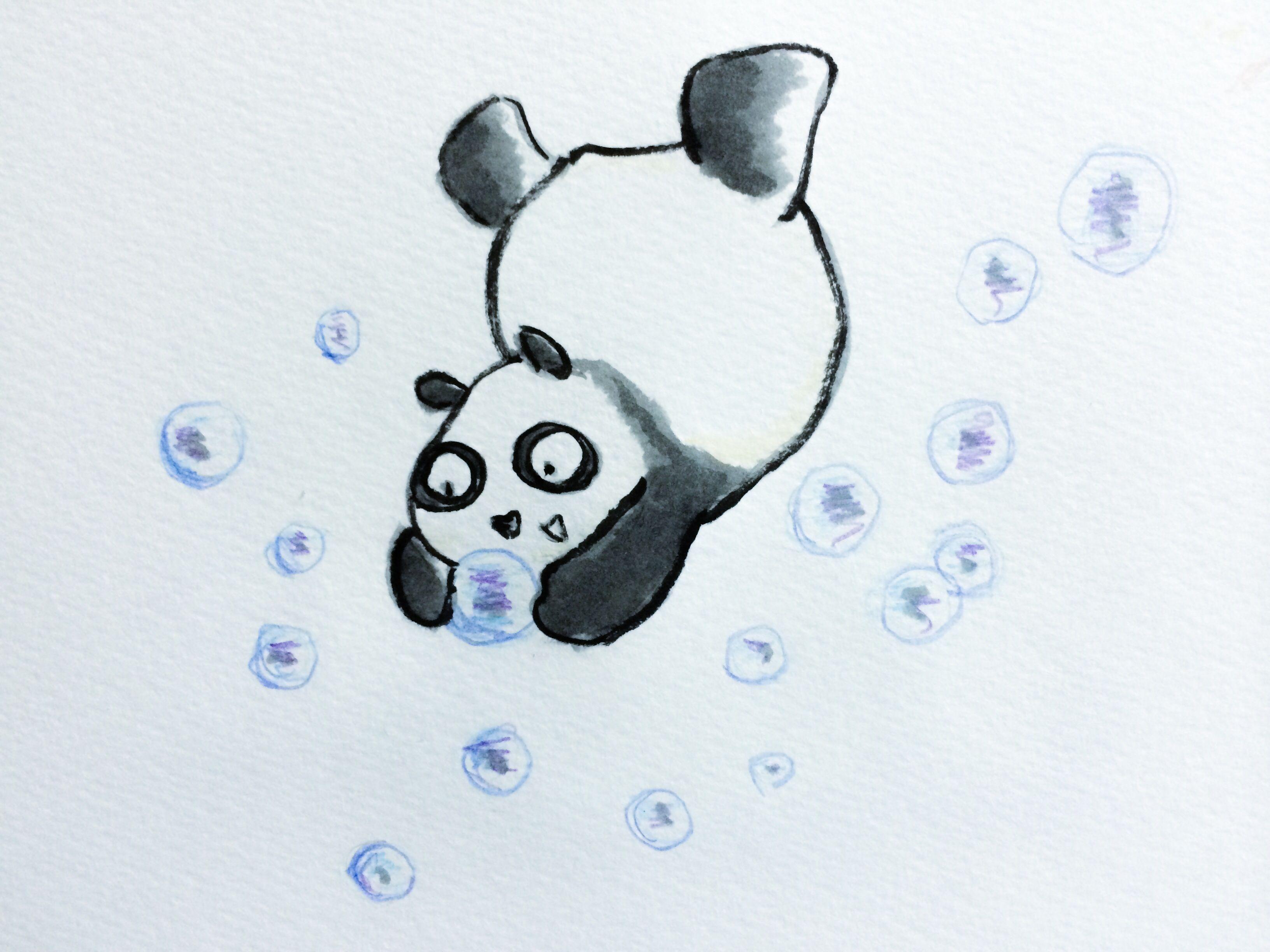 【一日一大熊猫】 幼児は炭酸飲料が飲めない子が多いけど 聞くと「からい」って言うよね。 でも突然飲めるようになるんだよね。。。 #炭酸飲料