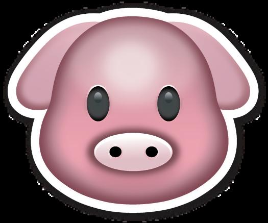 Pig Face Emojistickers Com Emoji Stickers Emoji Face Drawing