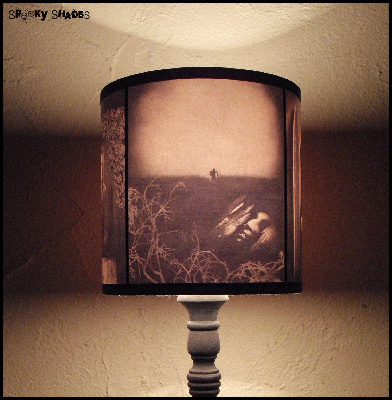 Nosferatu Lampshade lamp shade - halloween decor, goth decor, dark ...