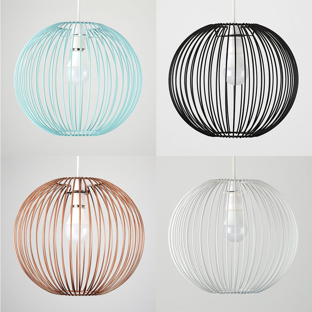 Modern wire ball non electric easy fit ceiling light shade pendant modern wire ball non electric easy fit ceiling light shade pendant lampshade aloadofball Image collections
