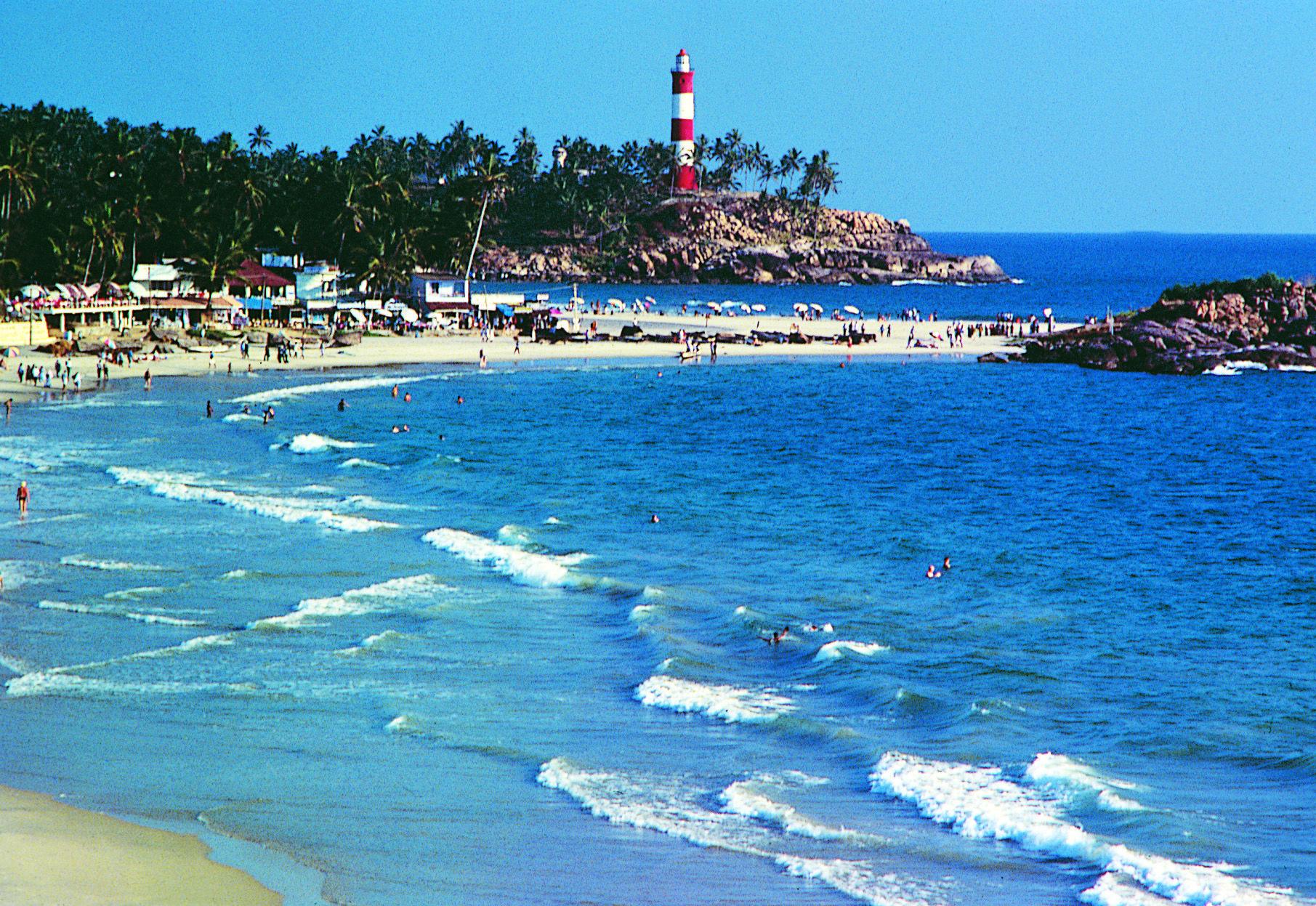 Kovalam Beach Kerala India Is