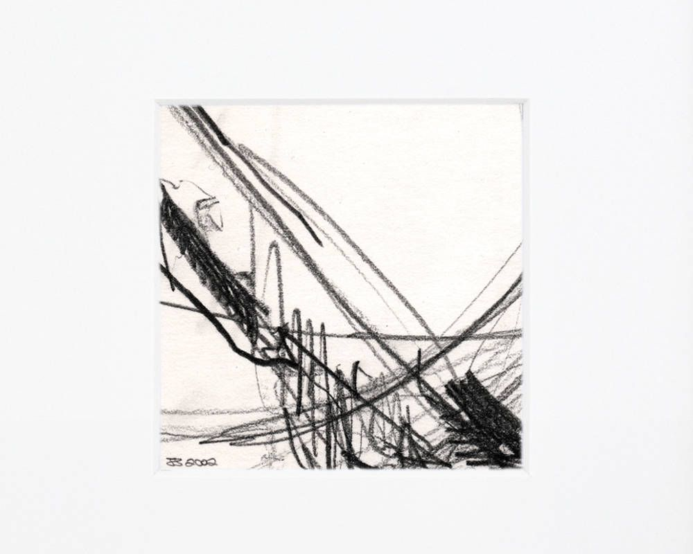Excited to share the latest addition to my etsy shop simple bold sketch graphite pencil art rough land drawing signed original art small abstract