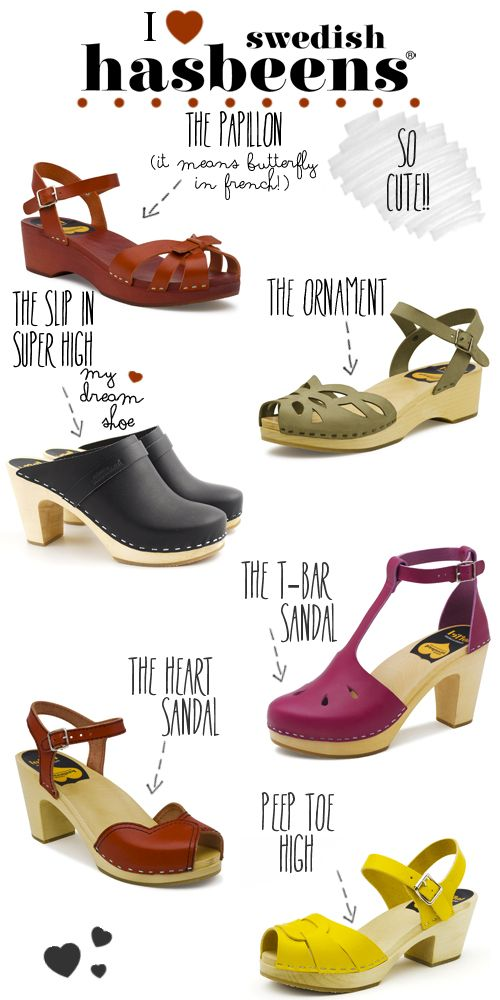My Dream Shoes 6 Amazing Pairs From Swedish Hasbeens