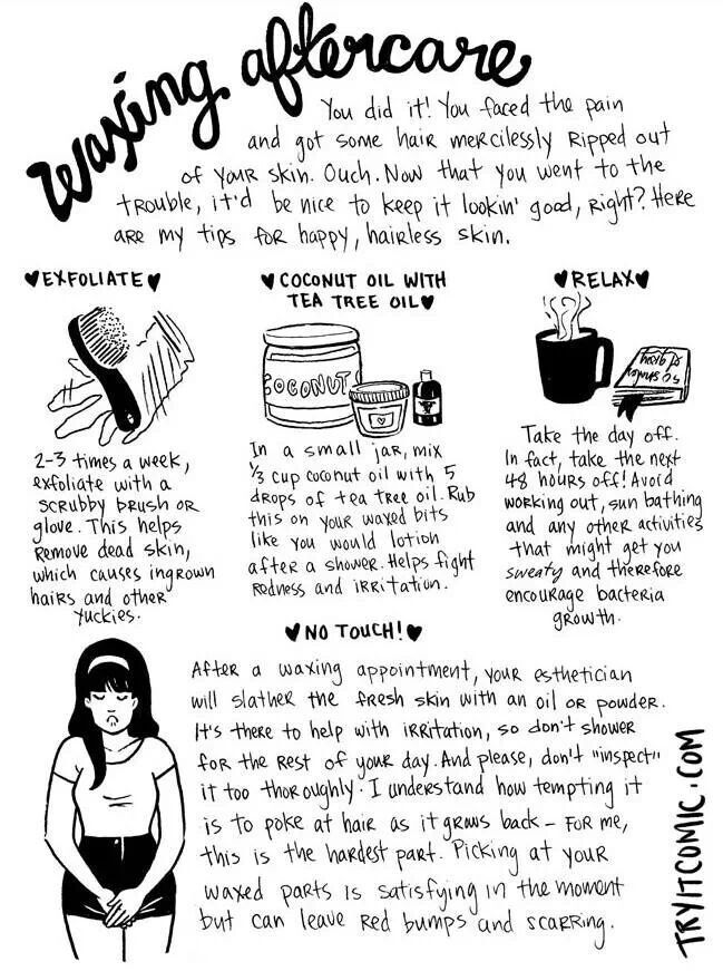 waxing aftercare tips