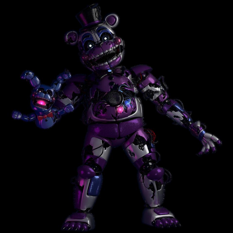 Scrap Funtime Freddy Scrap Bonbon C4d Model In 2021 Fnaf Characters Fnaf Freddy