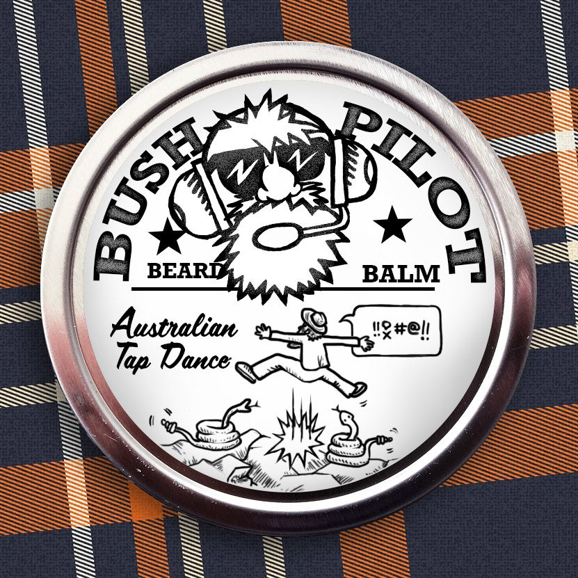 This all natural citrus scented beard balm helps soften