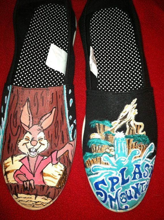 Each pair of custom hand painted shoes are made to order. I can paint any kind of characters, movies, sports teams, artists, bands, or designs that you can think of. Just send me a message with your ideas and together we can work out a specific design plan! If you have a picture of something specific that you are looking for you can include it. All of my hand-painted shoes include a new pair of Soda brand canvas shoes. I can also paint on TOMS, Vans, Converse or any other shoe you would…