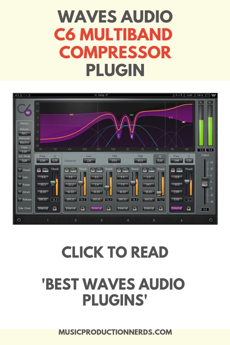Waves Audio C6 Multiband Compressor Plugin Waves Audio Waves Plugins Audio