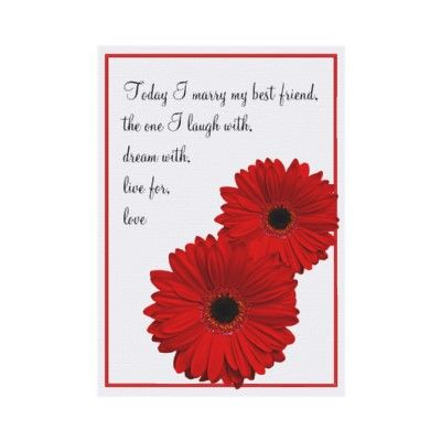 Red Gerbera Daisy invitations