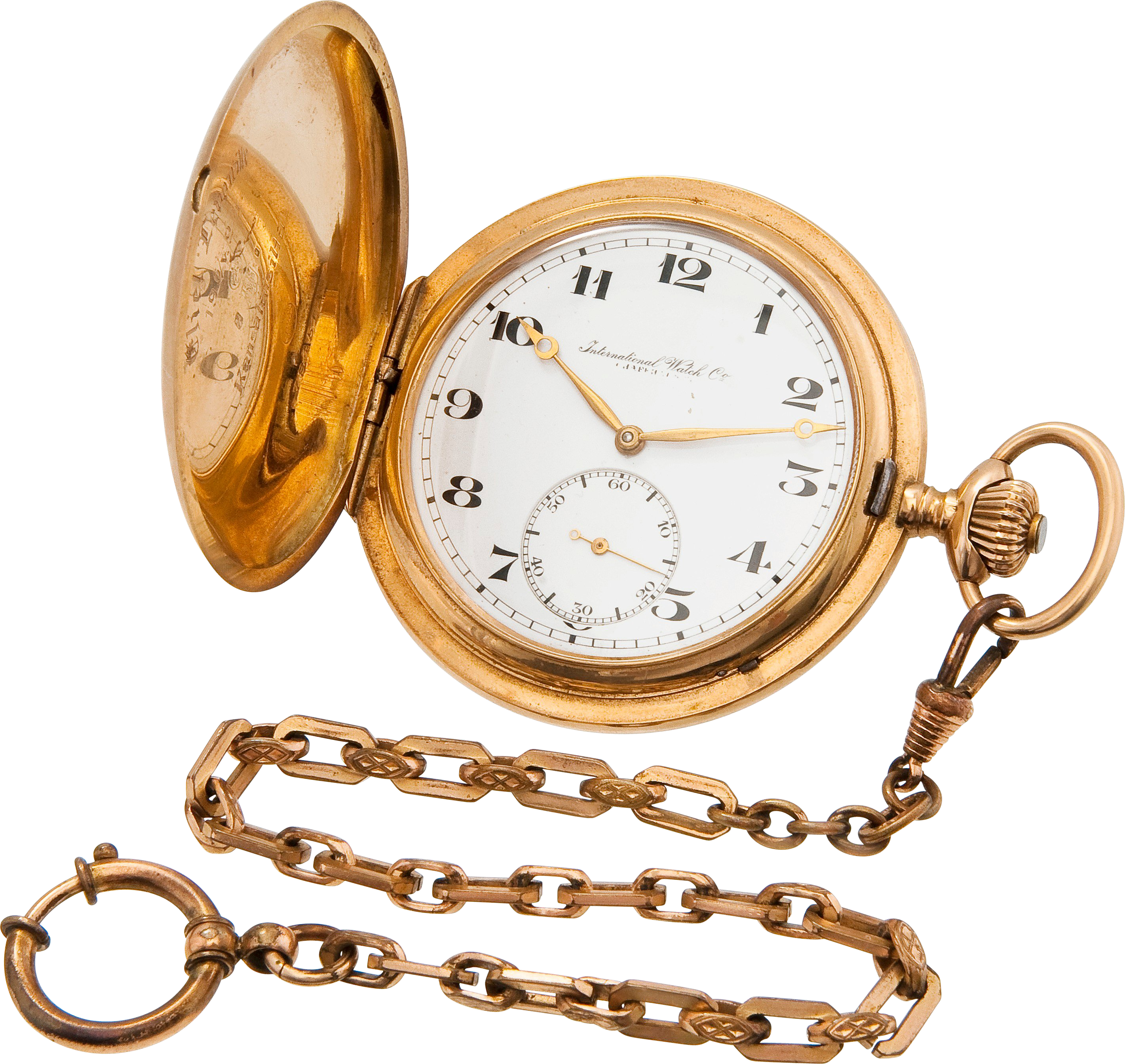 Golden Chain Stop Watch PNG Image Watch chain, Pocket