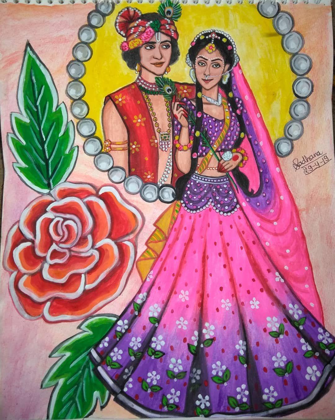 Beatking Sumedh Mallika Singh Official Radhakrishnfc Radhakrishn Starbharat Show Ra Radha Krishna Art Easy Rangoli Designs Diwali Krishna Radha Painting