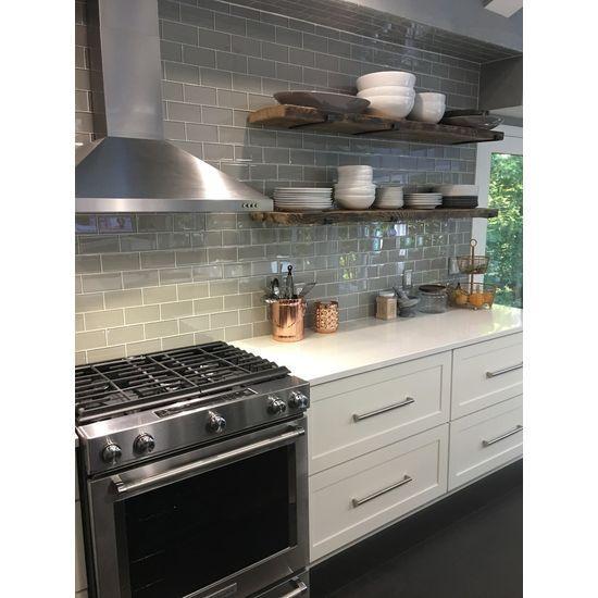 Pearl Grey Kitchen: Pearl Gray 3x6 Glass Subway Tiles