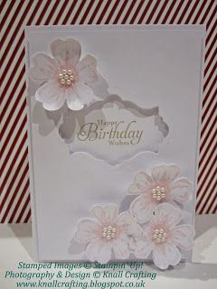 Knall Crafting! white on white birthday card - Stampin Up