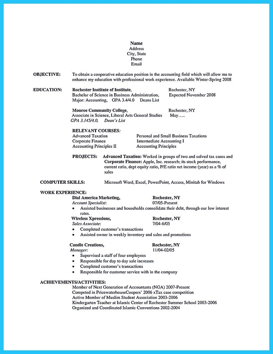 cool appealing formula for wonderful business administration resume