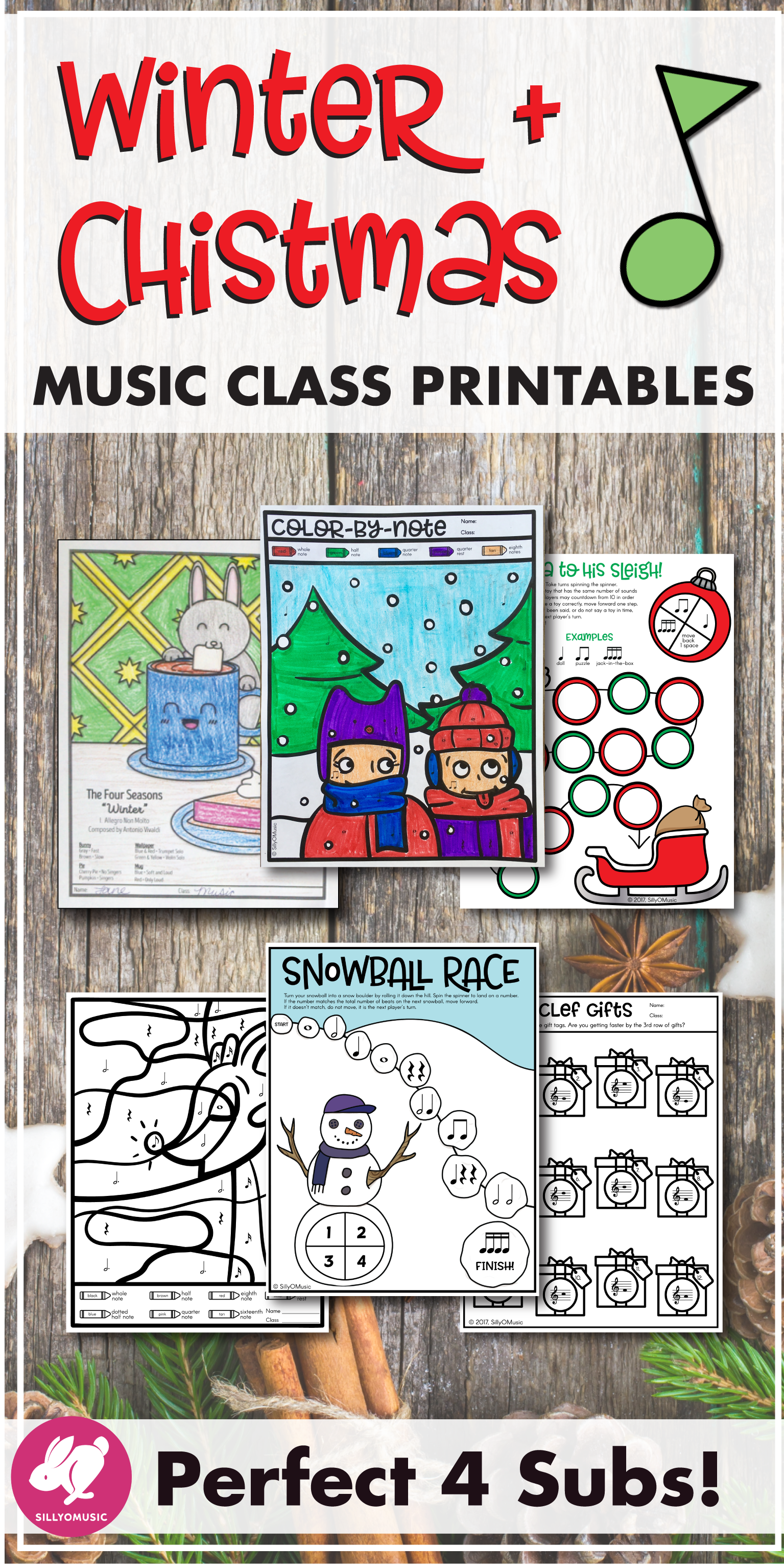 Winter Amp Christmas Music Worksheets Amp Activities Bundle
