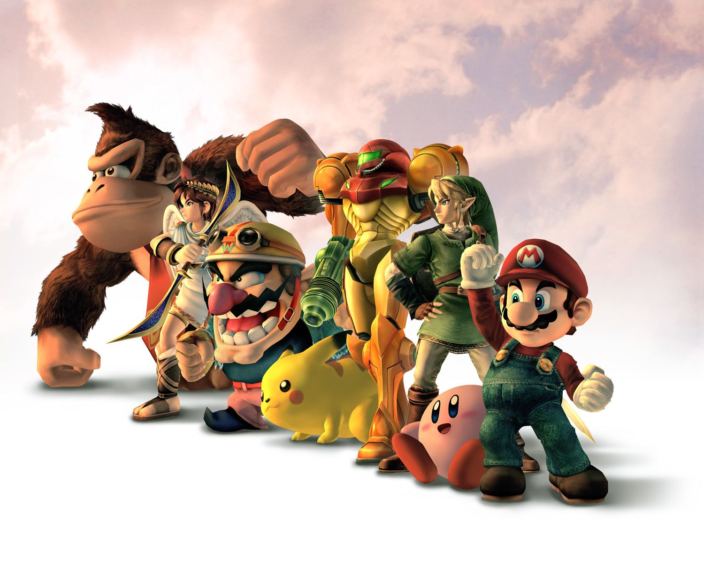 Vídeo Game Super Smash Bros Donkey Kong Wario Pikachu Kirby Mario Link Samus Aran Papel De Parede Super Smash Bros Brawl King Kong Filme King Kong