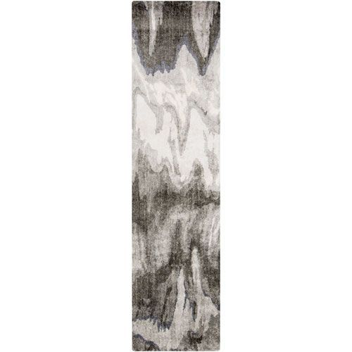 Gemini Gray and Moss Runner: 2 Ft 6 In x 8 Ft Rug - (In Runner)