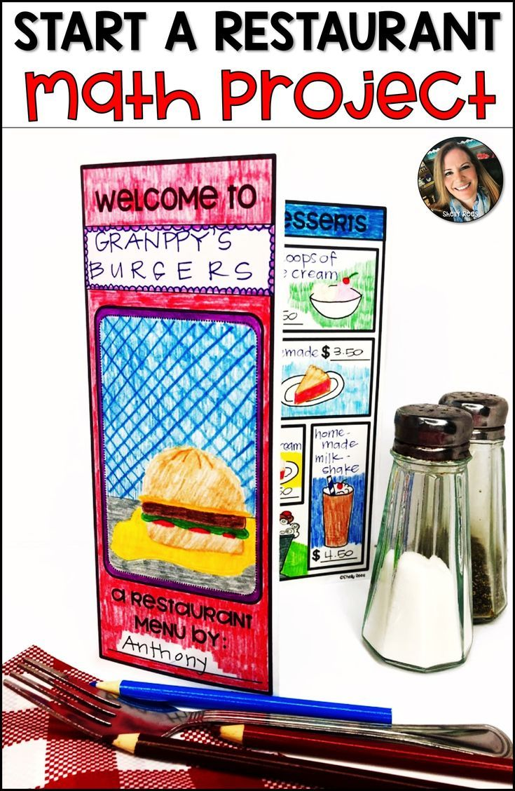 Restaurant Menu Project Based Learning PBL