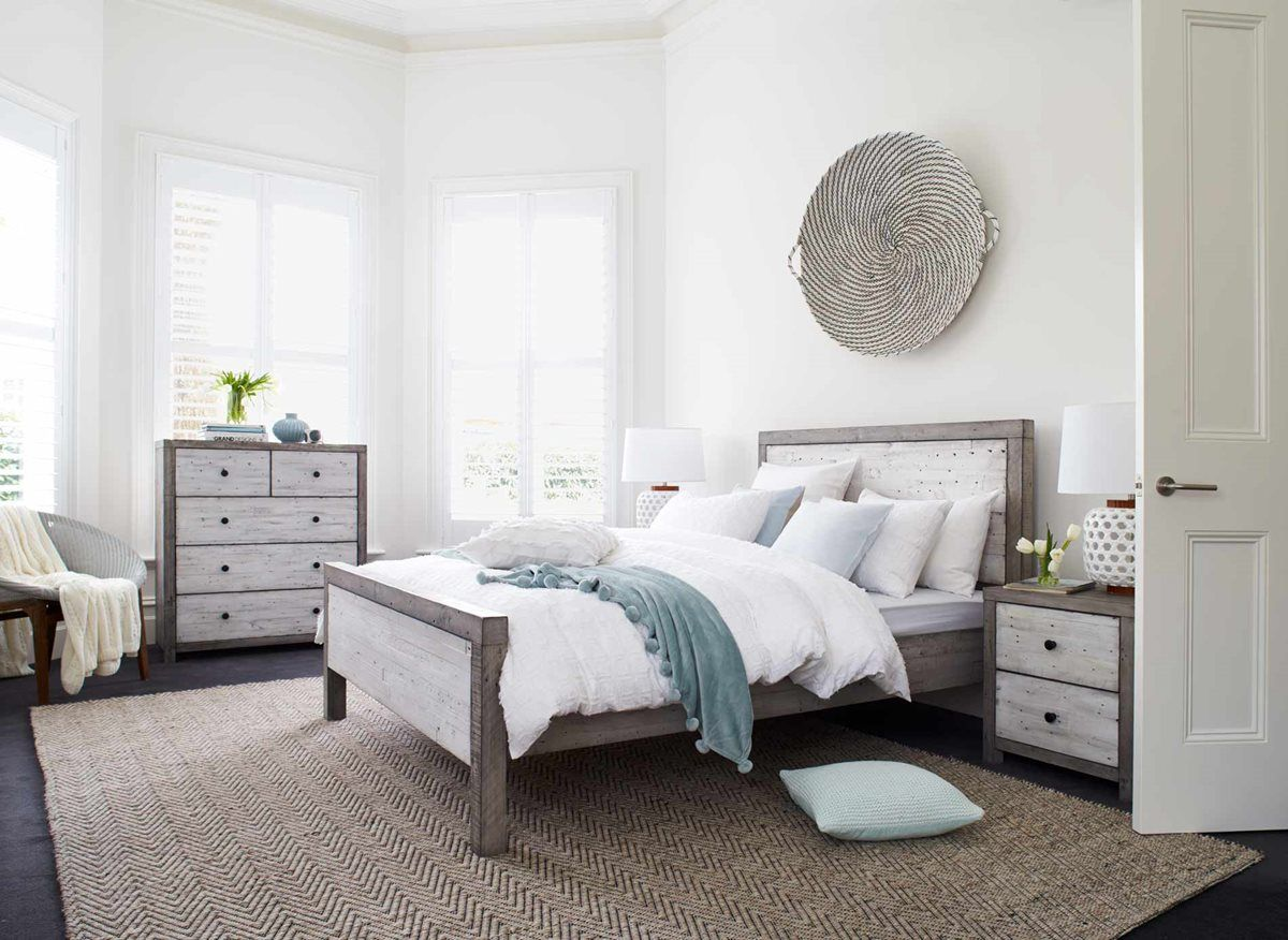 Super Bay Bed Frame Rustic White Bedroom Furniture Forty Winks Beutiful Home Inspiration Xortanetmahrainfo