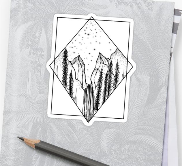 'Yosemite' Sticker by Larkandseal