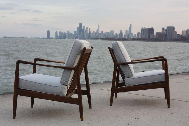 Smoking Danish Mid Century Modern Folke Ohlsson Teak Lounge Chairs