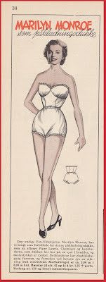 Ingrids Påklædningsdukker: Tempo 1953 Marilyn Monroe