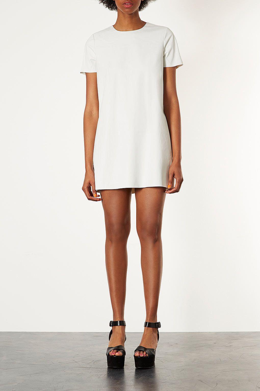 Leather Look T Shirt Dress T Shirt Dresses Dresses Clothing Topshop Usa Diy Inspiration Shirt Dress Shift Dress T Shirt Dress [ 1530 x 1020 Pixel ]