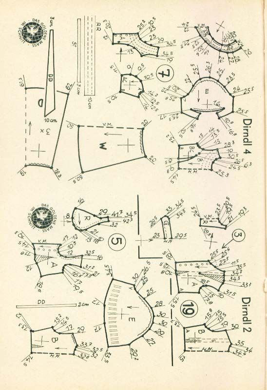 Lutterloh Dirndl Supplement 1950\'s pg. 40 | VINTAGE LUTTERLOH SEWING ...