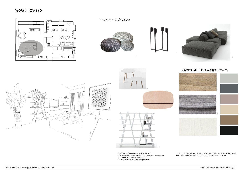 Esame Finale Corso Interior Design Www Madeininterior It Progetto Di Ramona Bartesaghi Progetti Di Design Ispirazione Design Progettazione Del Layout