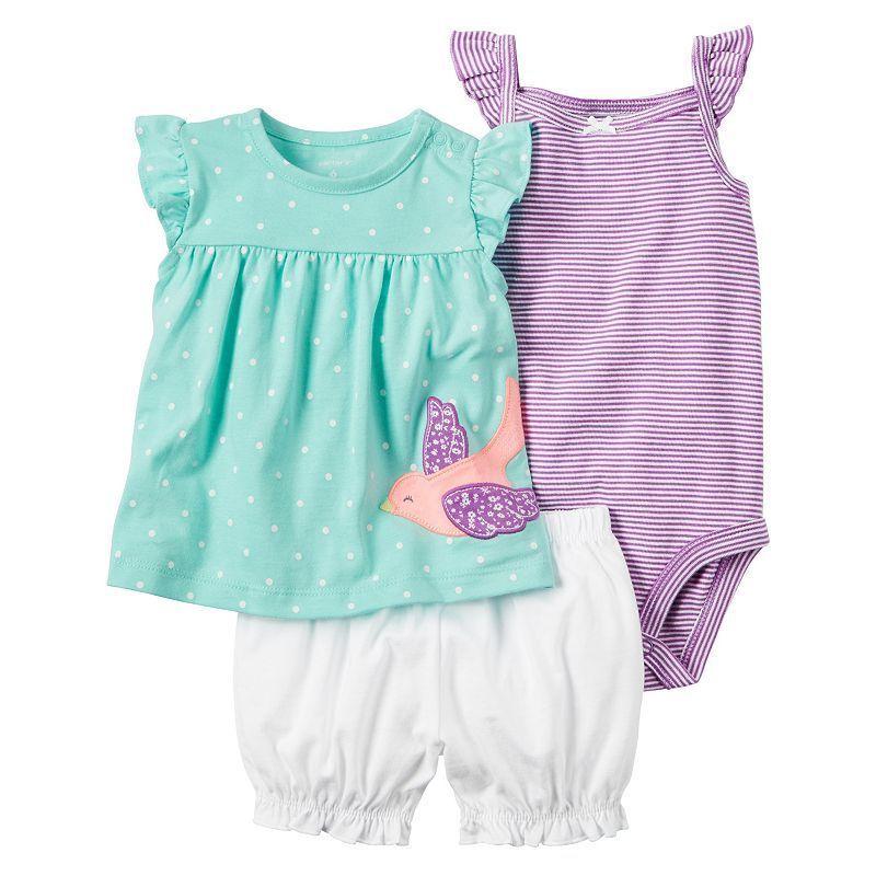 3bbb4c93e77 Baby Girl Carter s Striped Bodysuit