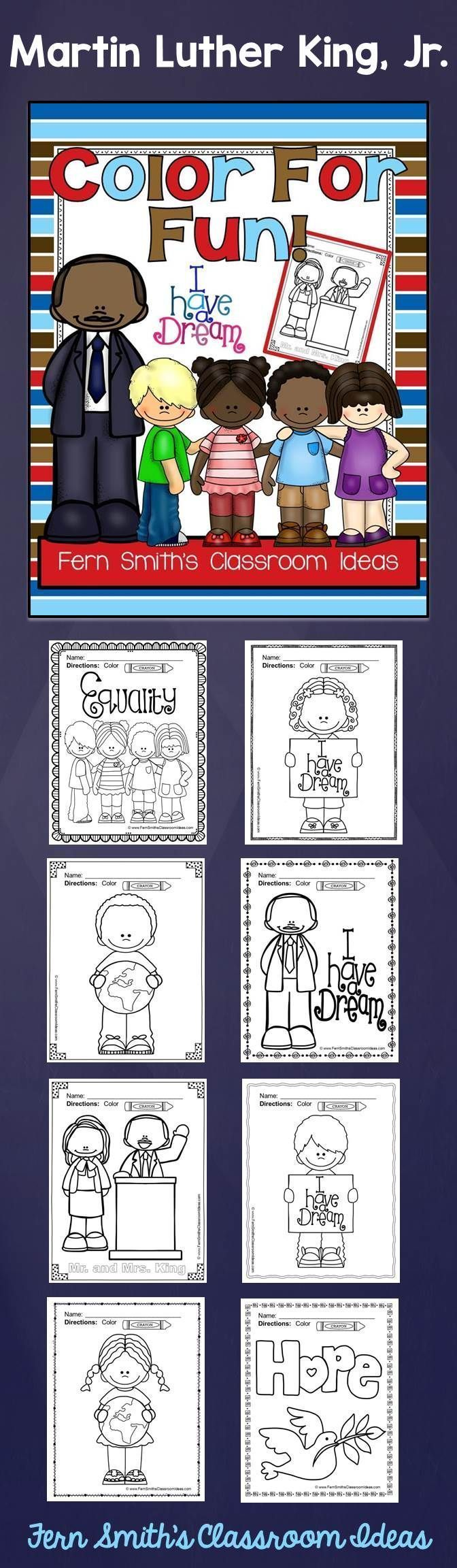 Printable coloring pages martin luther -  Free Martin Luther King Jr Color For Fun Printable Coloring Pages Freebie