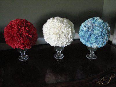 4th of July Carnation Balls - www.RossSveback.com