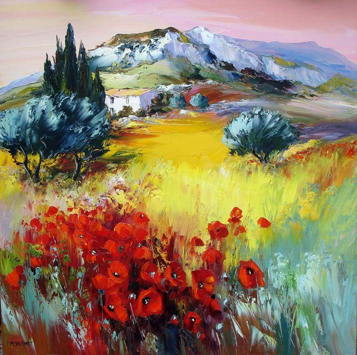Michel Vezinet Peinture Paysage Tableau Peinture Et Peinture