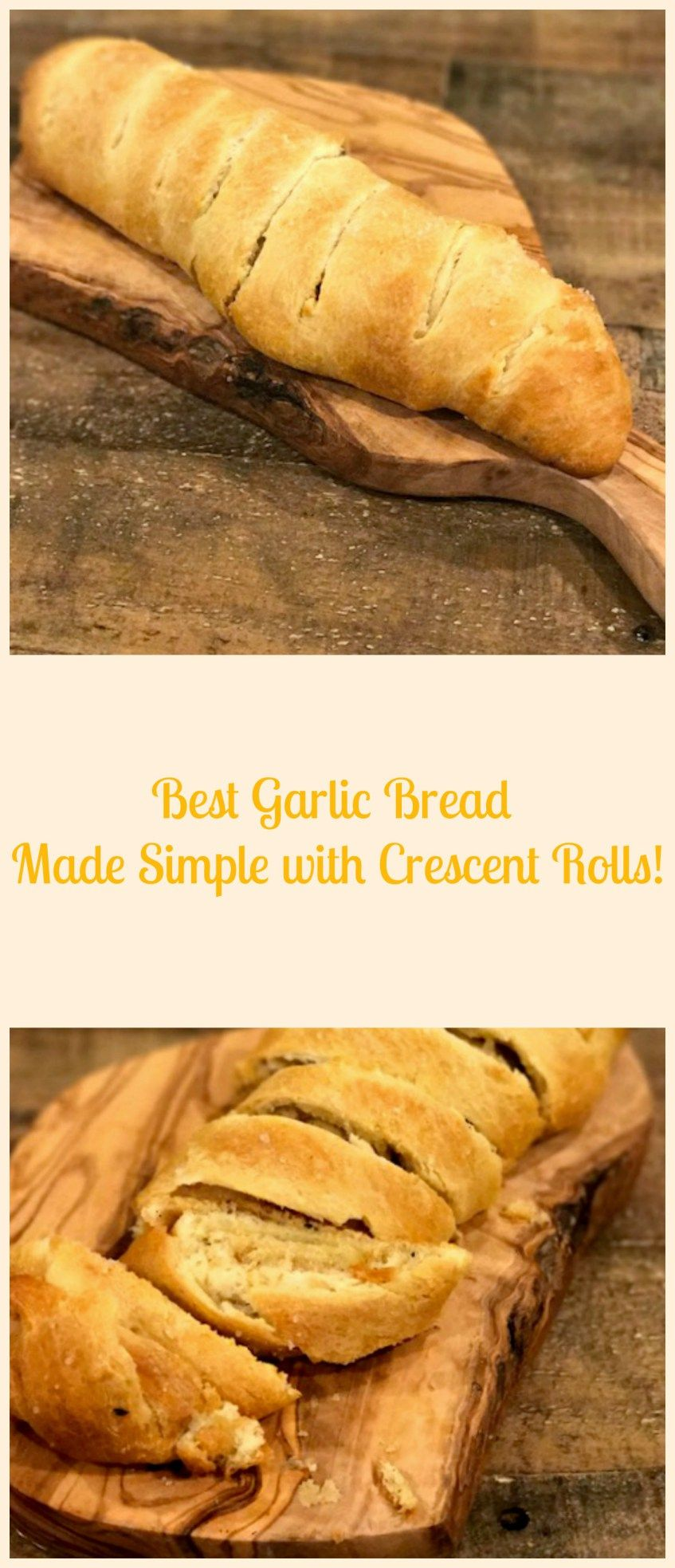 Best garlic bread made simply with crescent rolls recipe