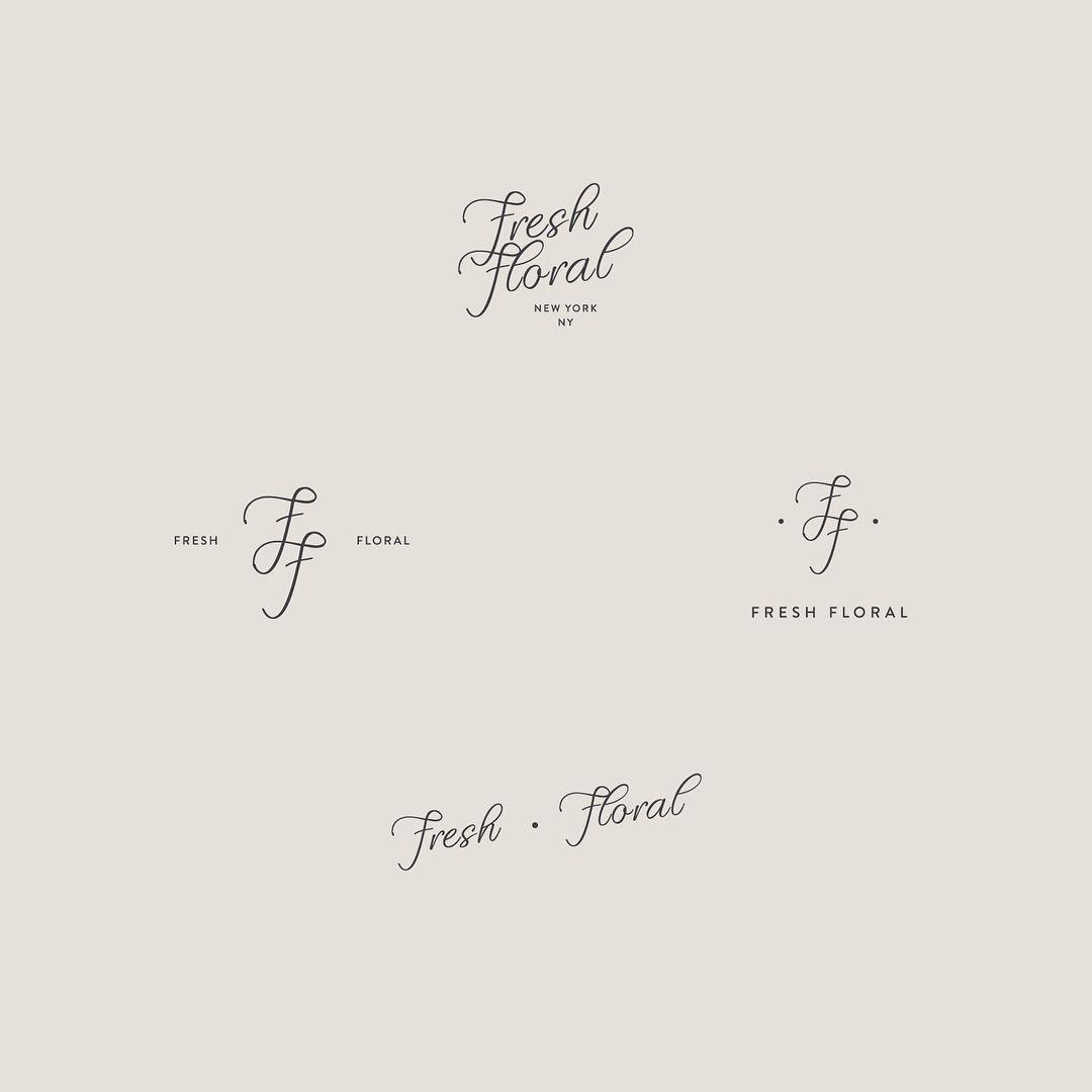 Editable Logotemplates: New Minimalist Editable Floral Logo Templates Just Added
