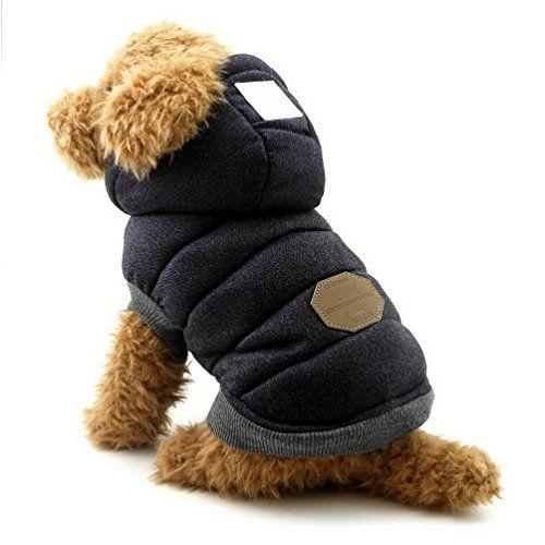 095b42c10000 SELMAI Hooded Dog Coat Stylish Small Puppy Dog Clothes