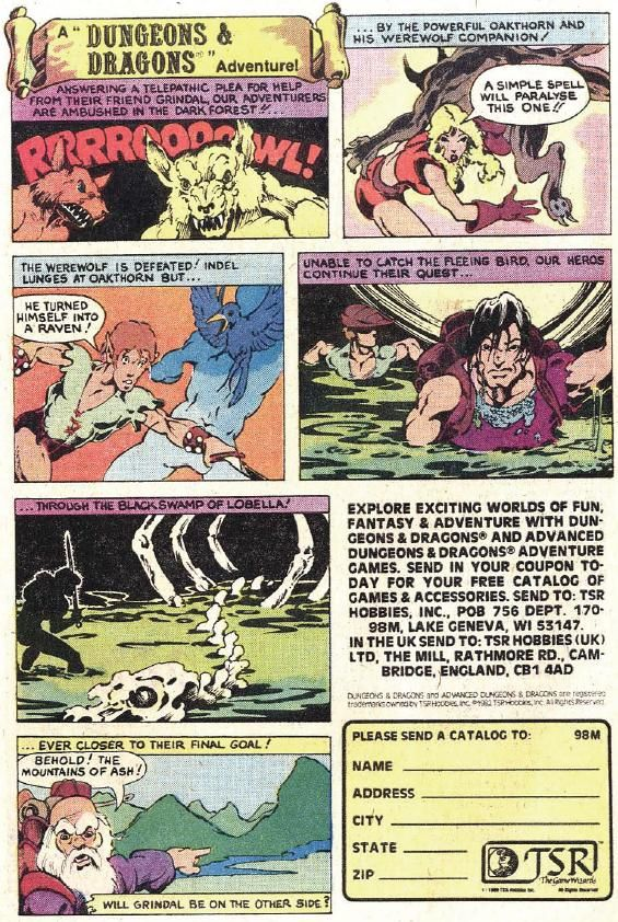 Dungeons and Dragons Advertisement 7 of 8