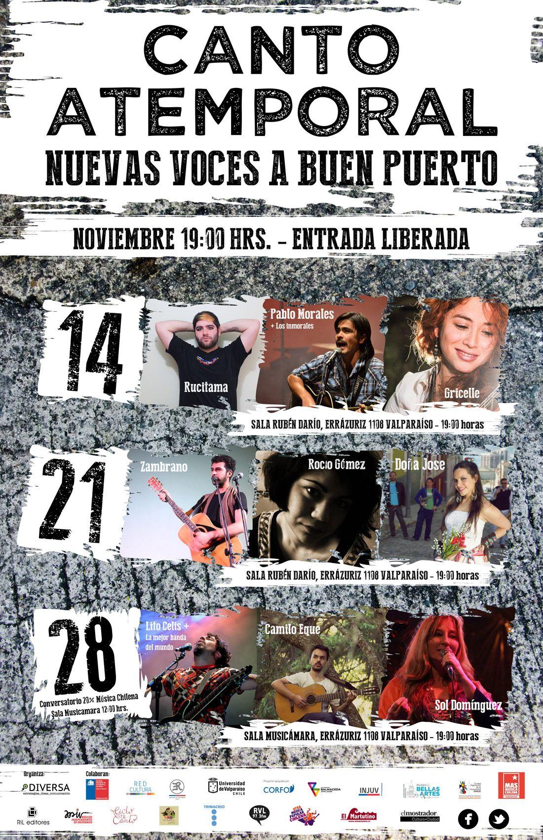 Se viene la segunda jornada de Canto Atemporal en Valparaíso. Sala Rubén Darío UV