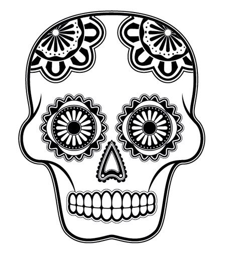 how to draw a detailed skull