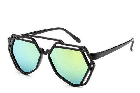 Fashion Polygonal Hollow Sunglasses