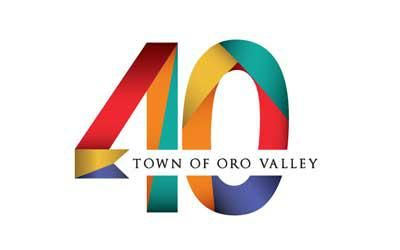 Town of Oro Valley 40th Anniversary graphic logo