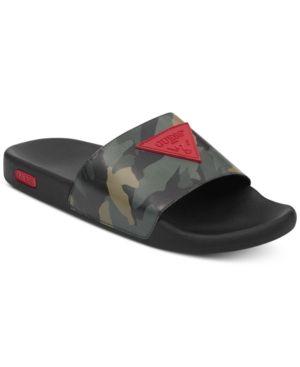 9ff41d5e330c Guess Men s Ion Slide Sandals - Green 12