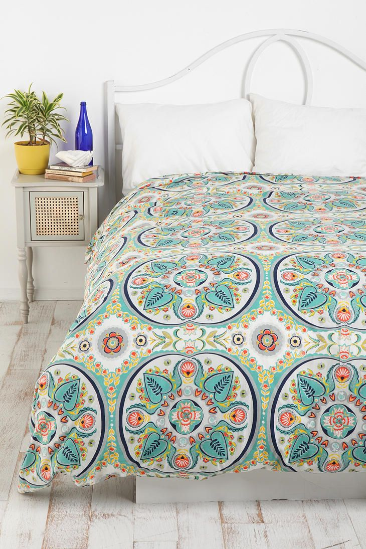 Painted Medallion Duvet Cover #urbanoutfitters #bedding #bed #linens #bedrooms #sleeping #home #interior
